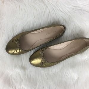 Nine West Leather Ballerina Flats Shoes Size 7